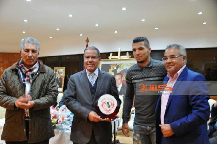 تكريم البطل المغربي محمد الربيعي بمراكش + صور