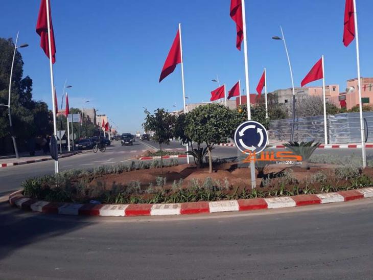 بالصور .. الشماعية تستعد لاستقبال الملك محمد السادس