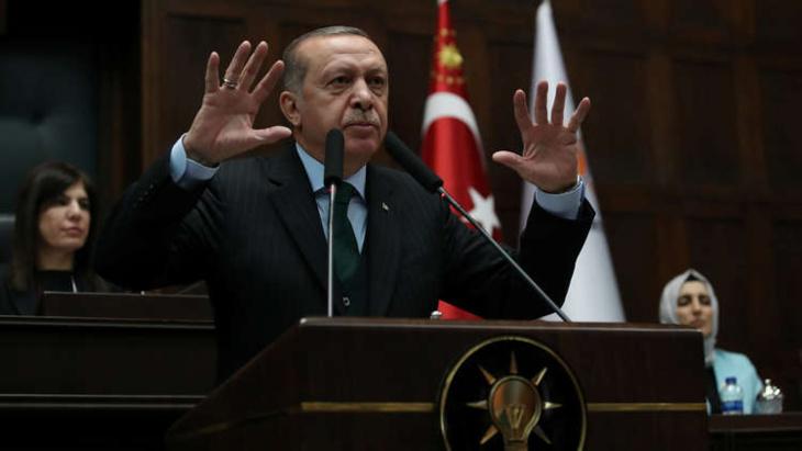 أردوغان: داعش أصبح ذريعة لتكديس الأسلحة في سوريا