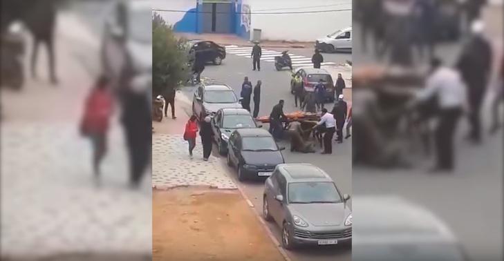 عمالة مقاطعة الحي الحسني توضح بخصوص شريط اعتداء قائد على
