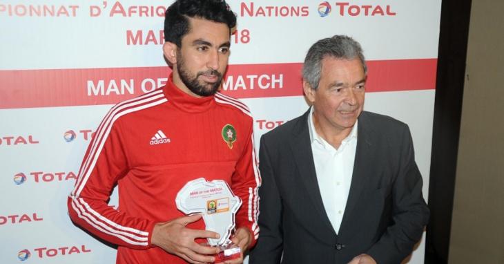 اختيار المراكشي صلاح الدين السعيدي كأحسن لاعب في ربع نهاية الشان