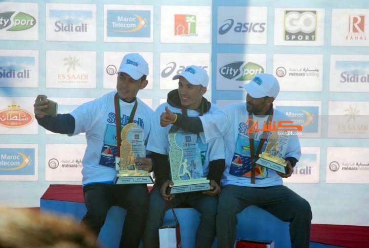 بالصور..كينيا تفوز بالماراطون الدولي لمراكش وسيطرة مغربية على نصف الماراطون