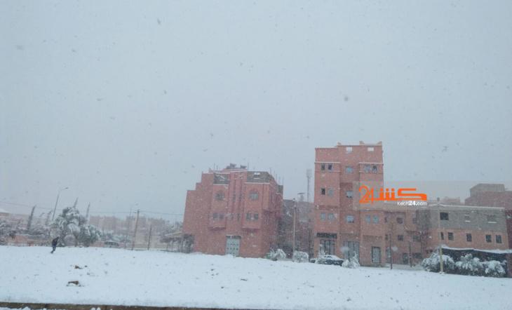 الثلوج تكسو مدينة ورزازات + صور