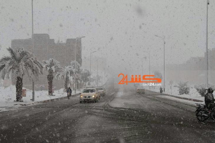 بالصور: في مشاهد نادرة.. الثلوج ترسم لوحات مذهلة بزاكورة و ورزازات