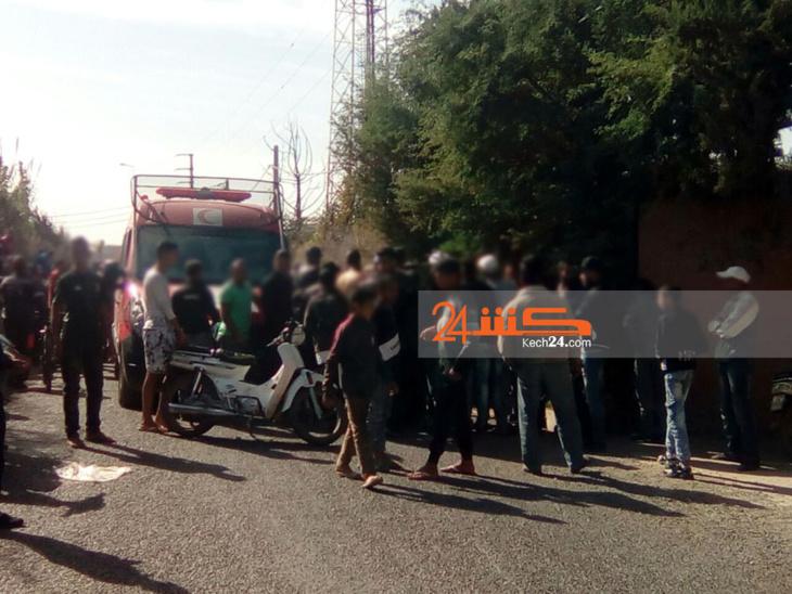 عاجل: انقلاب سيارة و شاحنة من الحجم الكبير في حادثة خطيرة بين مراكش وتحناوت