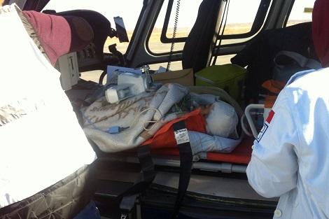 مروحية تنقل طفل في وضعية صحية حرجة من ورزازات إلى مراكش