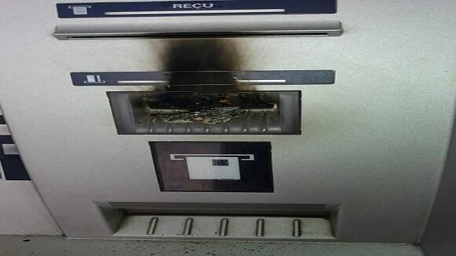 إحراق شبابيك بنكية أوتوماتيكية يستنفر الأمن