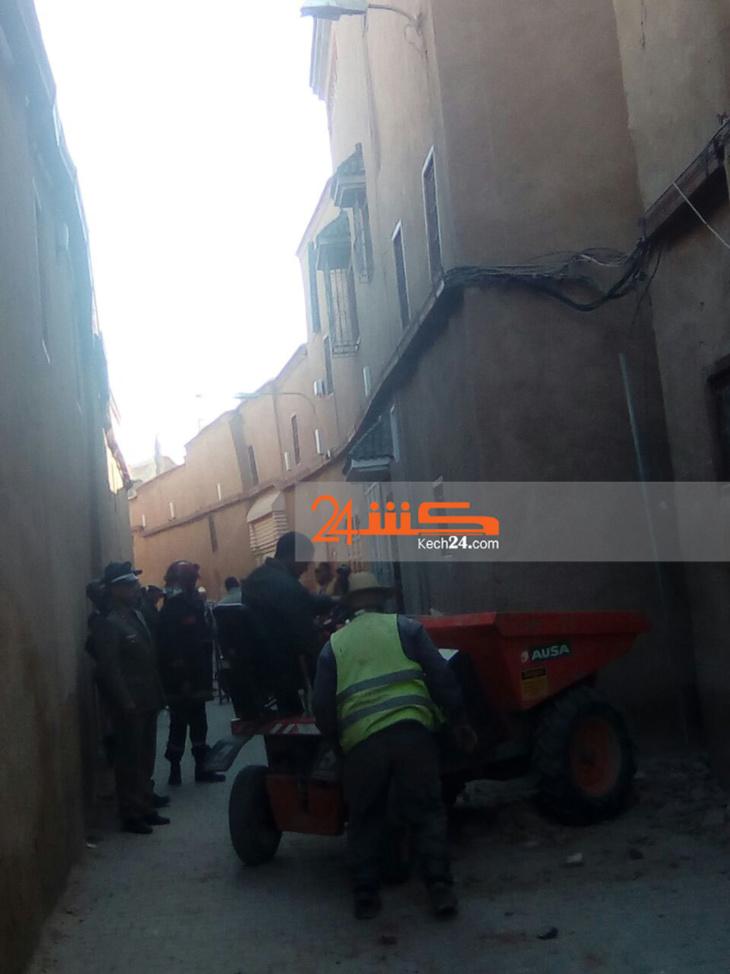 عاجل: انهيار منزل بالمدينة العتيقة يستنفر سلطات مراكش + صور