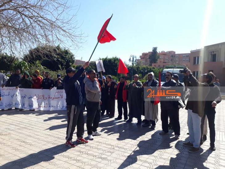 مستخدمو سوق الجملة يحتجون من جديد أمام المجلس الجماعي لمراكش + جديد