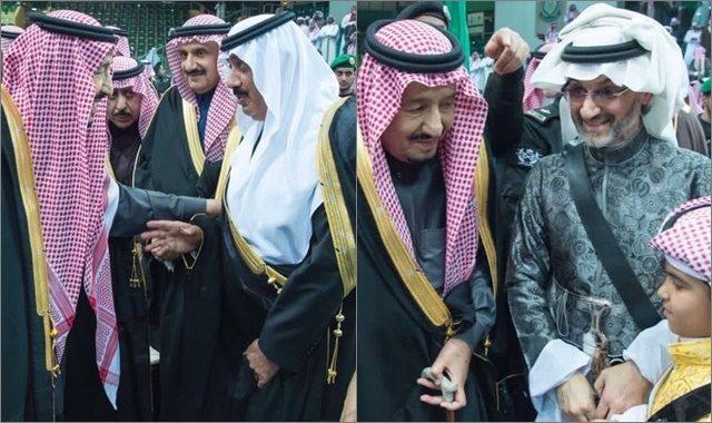 بالفيديو: أول ظهور للملك سلمان مع الوليد بن طلال بعد الإفراج عنه