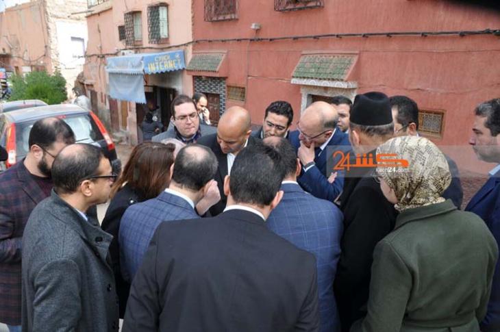 بالصور..أوراش الحاضرة المتجددة تحت مجهر والي جهة مراكش