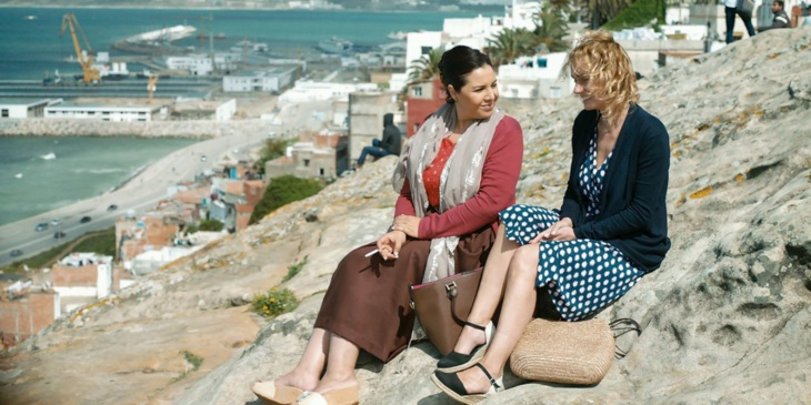 المخرج جايل موريل والممثلة ساندرين بونير بمراكش لتقديم فيلم
