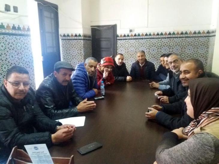 لقاء تواصلي بين ممثلي قطاع المالية والكاتب العام للاتحاد المغربي للشغل بجهة مراكش