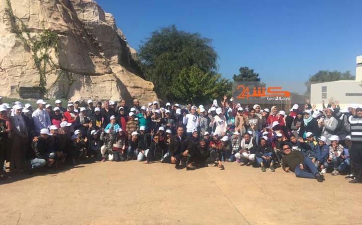 مقاطعة سيدي يوسف بن علي تكافئ 130 من التلاميذ المتفوقين برحلة الى الرباط + صور