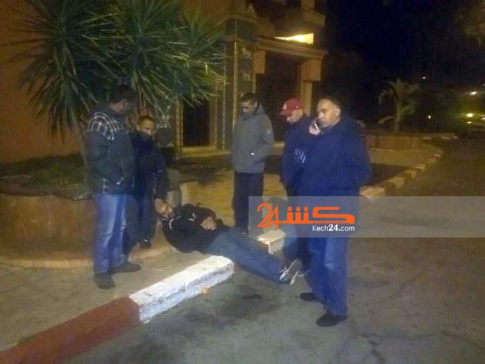 عراقي يٌكسِّر أنف سائق