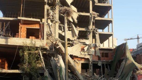 بالفيديو:  انهيار من ستة طوابق عمارة قيد البناء بالقنيطرة