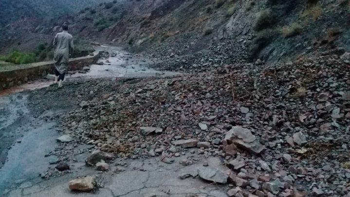 انهيار صخري جديد بين مراكش وتارودانت أيام بعد فاجعة اجوكاك