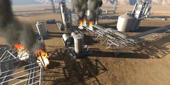 منشآت نفطية  سعودية تحت القصف الجوي