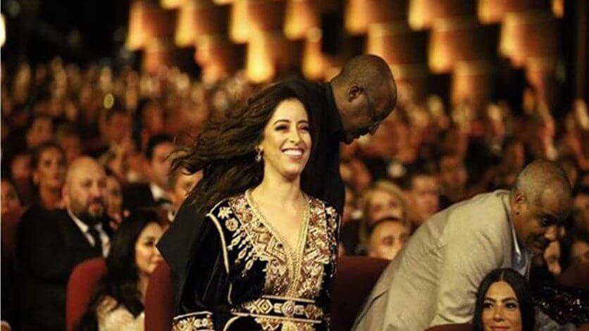 تتويج الممثلة المغربية نسرين الراضي في مهرجان الجونة السينمائي