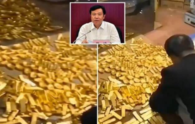 العثور على 13 طنا من الذهب و37 مليار دولار بمنزل مسؤول بالصين