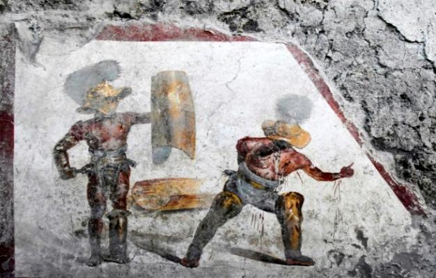 اكتشاف في بومبي يصوّر قتالا وحشيا لمعركة دامية
