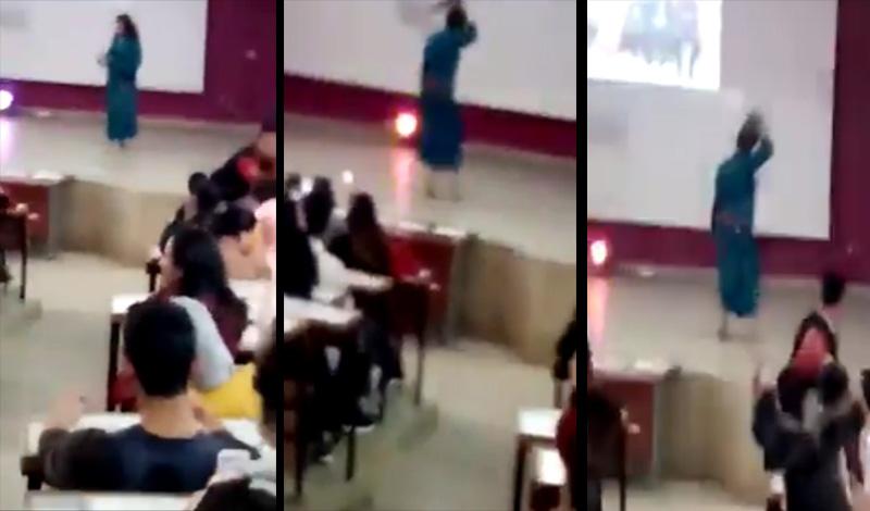 غضب فيسبوكي بسبب فيديو رقص مثير لفتاة بمدرج بكلية الحقوق بالمحمدية