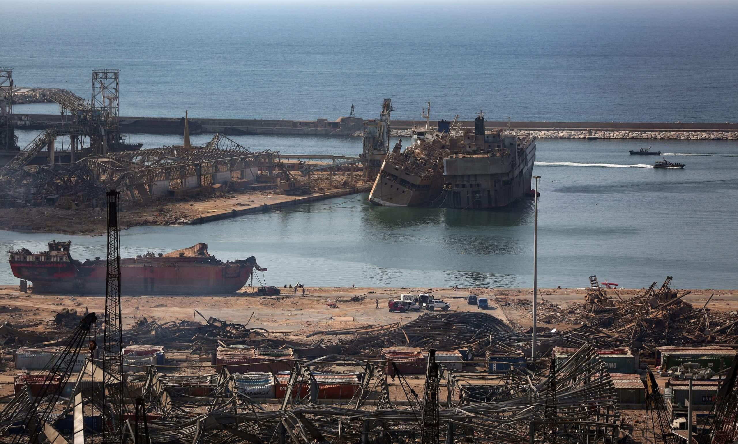 انفجار بيروت: توقيف 16 عاملا بالميناء ووضع اخرين تحت الاقامة الجبرية