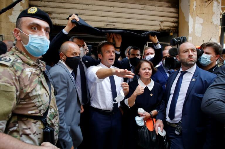 """بيروت..  ماكرون يحرض اللبنانيين على """"تغيير النظام"""""""