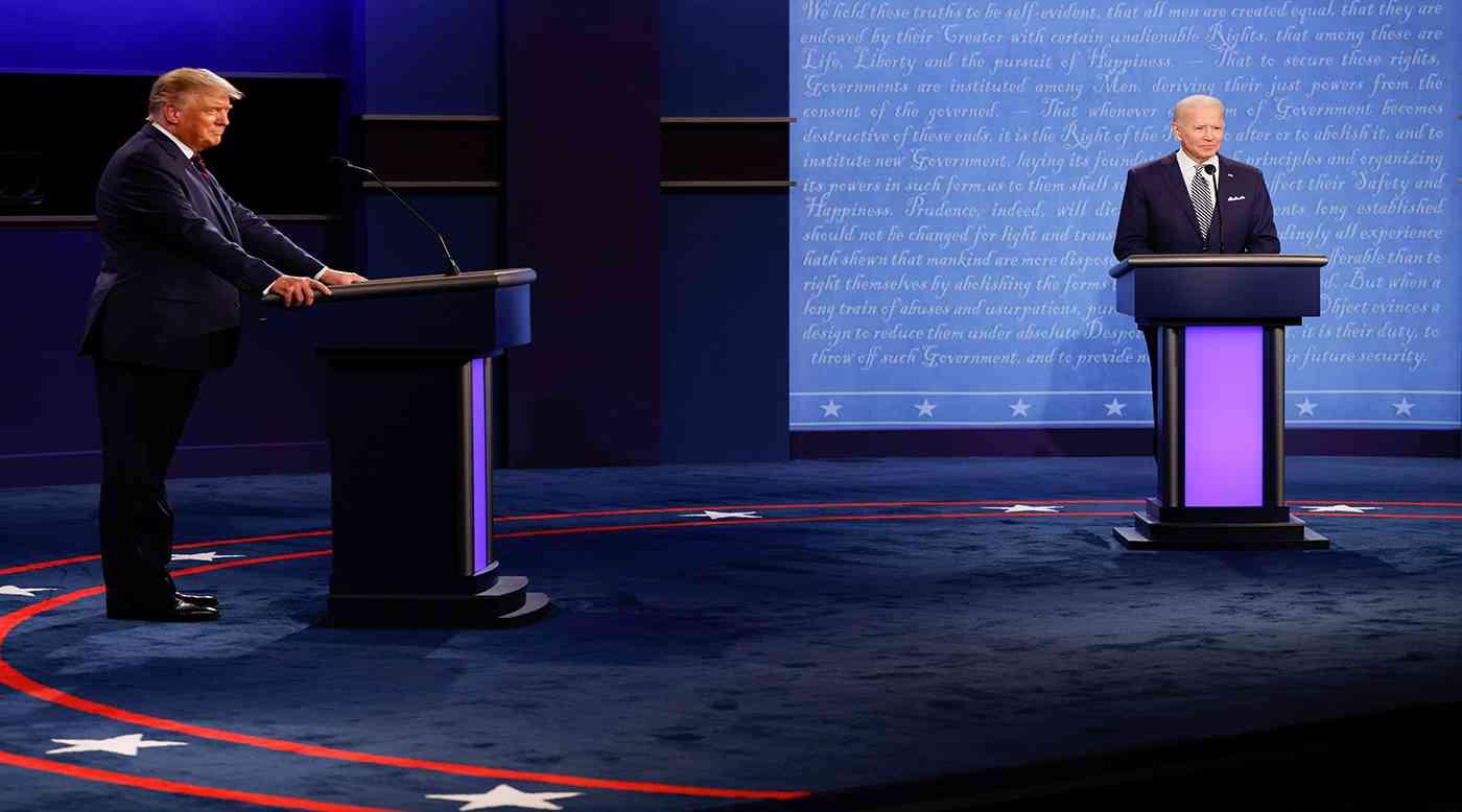 أول مناظرة بين ترامب وبايدن تتناول الضرائب والتظاهرات وسط تبادل الإهانات