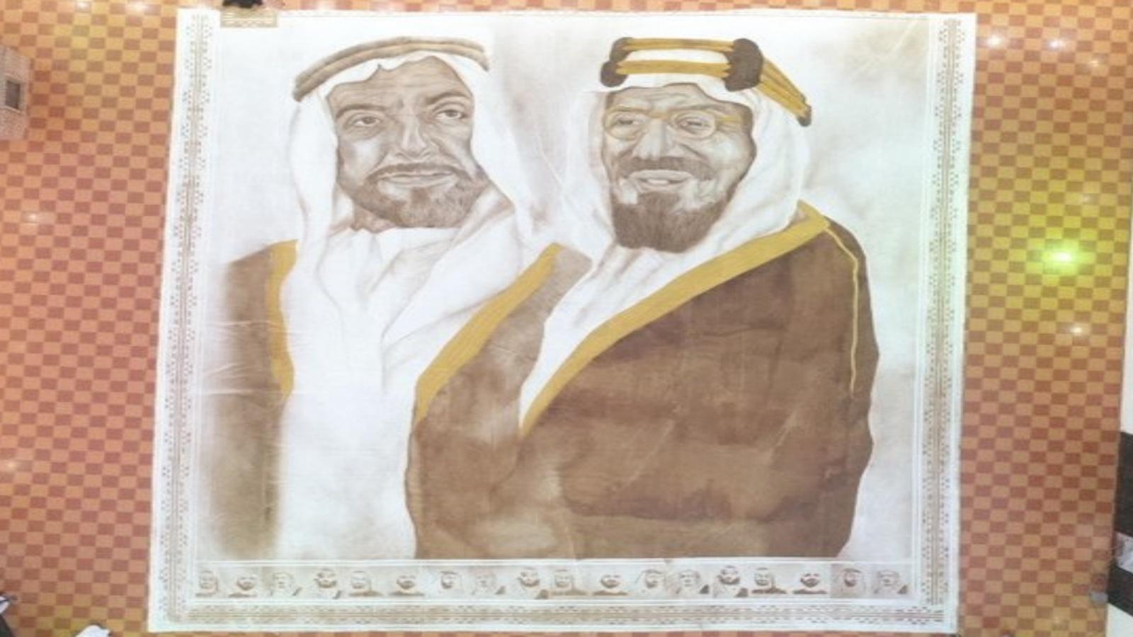 """سعودية تدخل """"غينيس"""" بأكبر لوحة فنية من القهوة"""