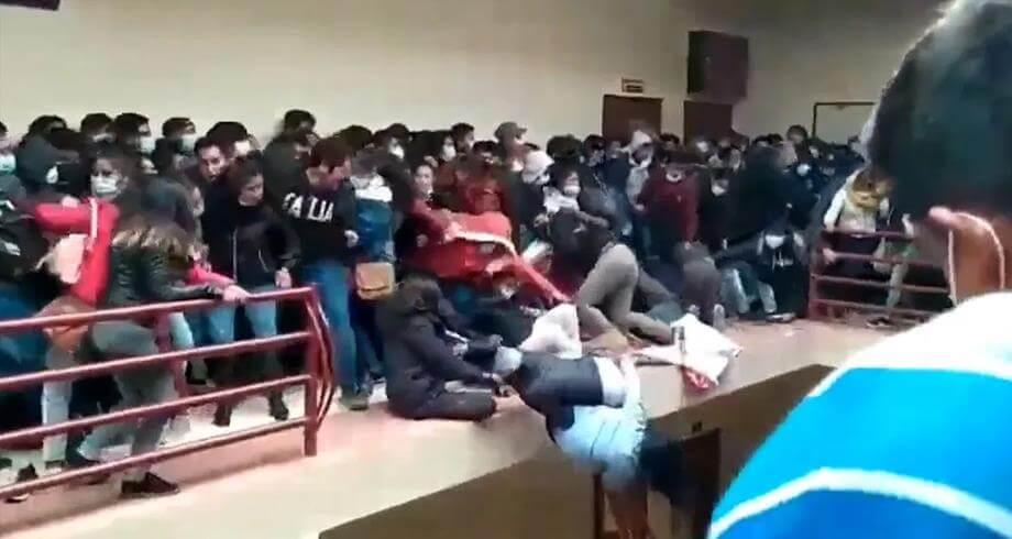 وفاة 7 طلاب إثر سقوطهم من طابق علوي بمبنى جامعي