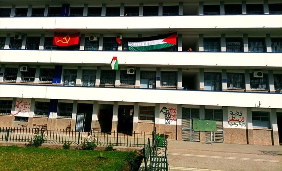 """في ظل اكتساح """"الهاشتغات""""..كتابات حائطية وجداريات من أجل دعم فلسطين"""