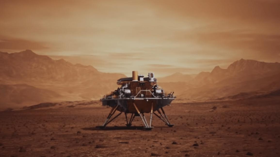 الصين تنجح في إنزال روبو صغير على سطح المريخ