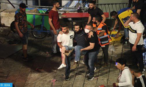 عشرات الجرحى في اعتداءات قوات الاحتلال على الفلسطينيين في القدس المحتلة